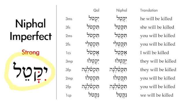 Basics of Biblical Hebrew - Session 24 - The Niphal Stem Strong Verbs