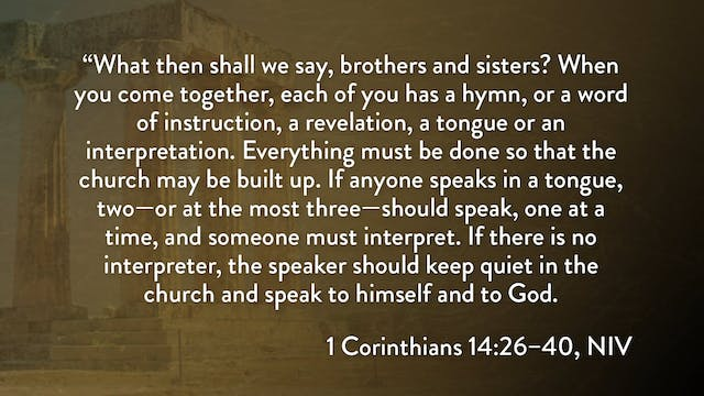 1 Corinthians - Session 29 - 1 Corint...
