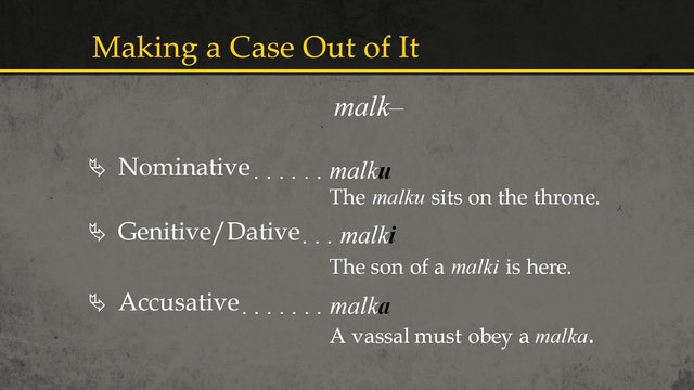 Basics of Ancient Ugaritic - Session 3: Nouns