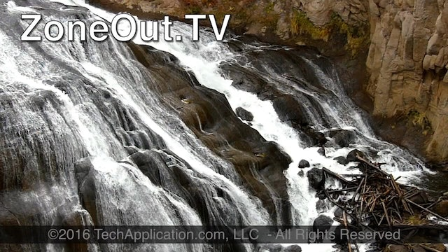 ZoneOutTV - Yellowstone Lower Falls River - from The Big West Series