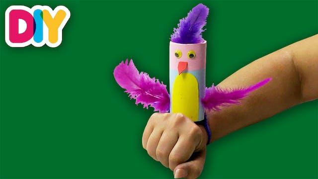 Wrist Parrot | Paper Roll Craft