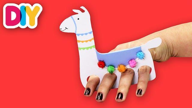 Llama | Finger Puppet Craft