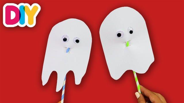 Paper Straw Ghosts | Halloween Paper ...