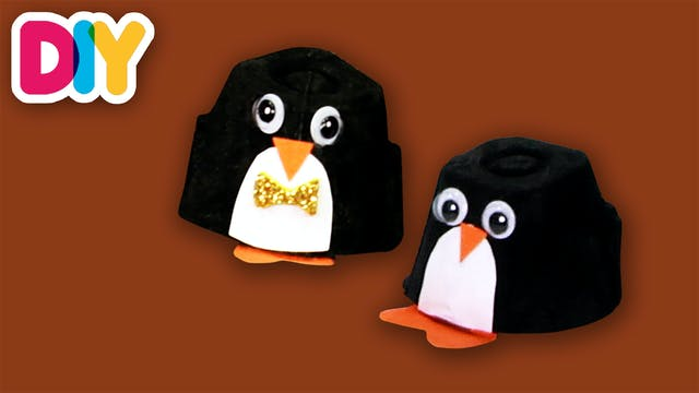 Penguin | Egg Carton Craft