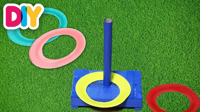 Ring Toss   Paper Plate Craft