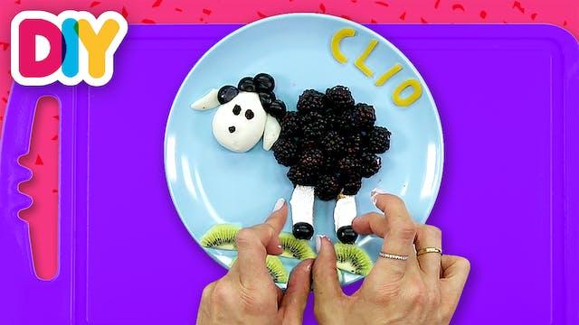 Baa Baa Black Sheep | Egg & Fruit Snack