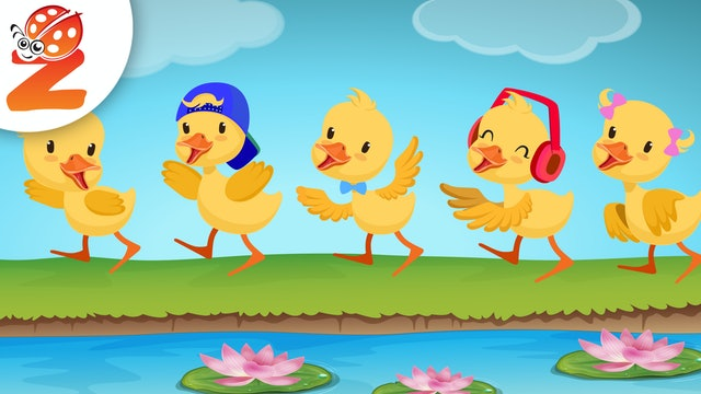 5 Little Ducks | Animated Songs