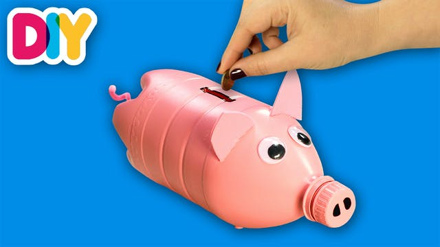 Piggy bank | Recycled Bottle Craft