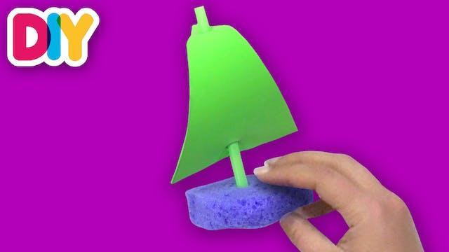 Sponge Sailboats | Craft for Kids