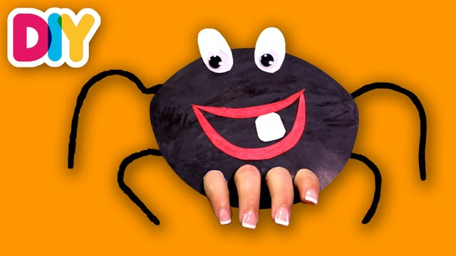 Itsy Bitsy Spider | Finger Puppet Craft