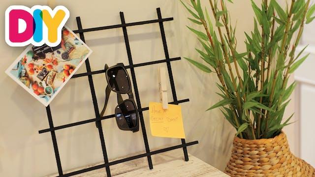 Wooden Grid Memo Board | Wood Craft