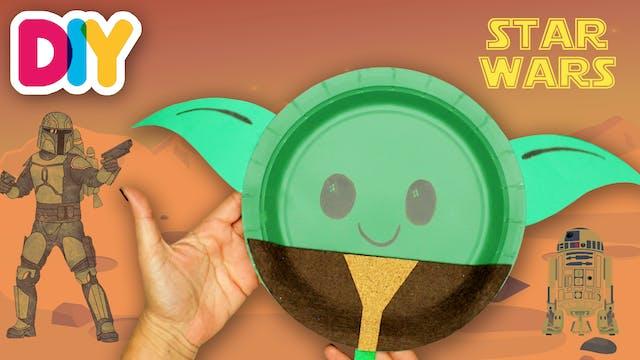 Baby Yoda Mask | Paper Plate Craft