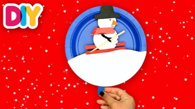 Snowman | Paper Plate Craft