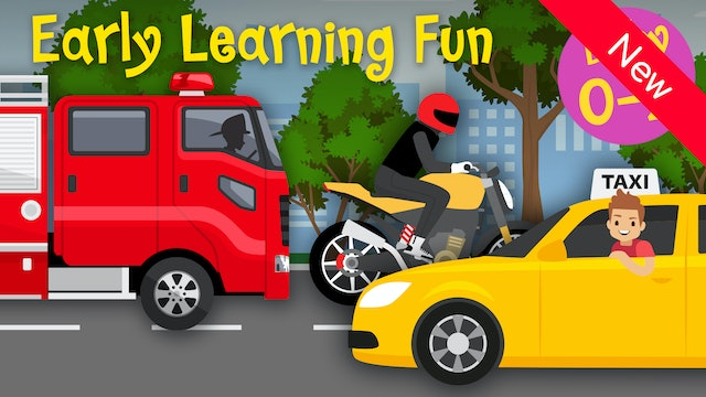 City Vehicles | Numbers & Sounds | Early Learning Fun