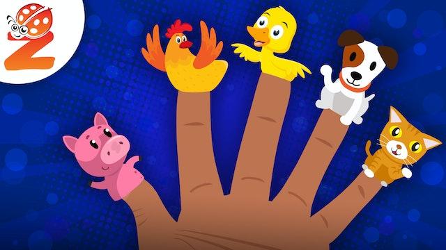 Finger Family | Animal Version | Animated Songs
