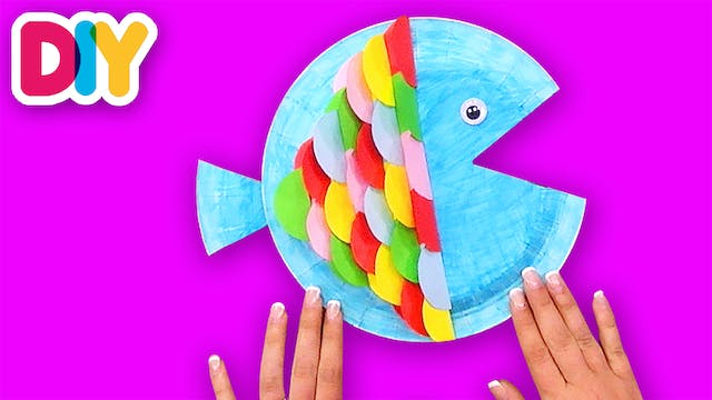 Colorful Fish | Paper Plate Craft