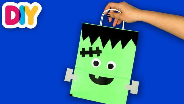 Frankenstein Treat Bag | Paper Bag Craft