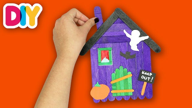 Haunted House | Popsicle Craft