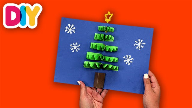 Christmas Tree Pop Up Card | Paper Craft
