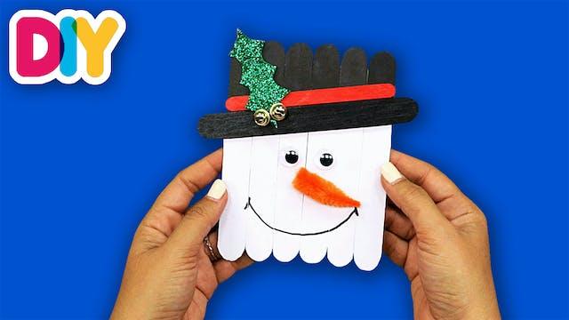 Snowman Ornament | Popsicle Craft