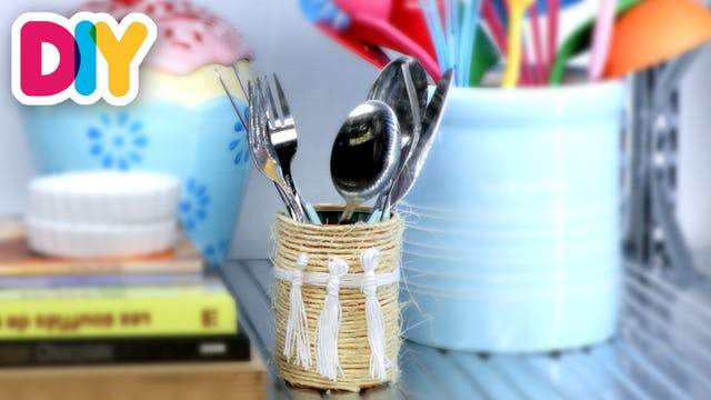 Twine Tin Can Container | Tin Can Craft