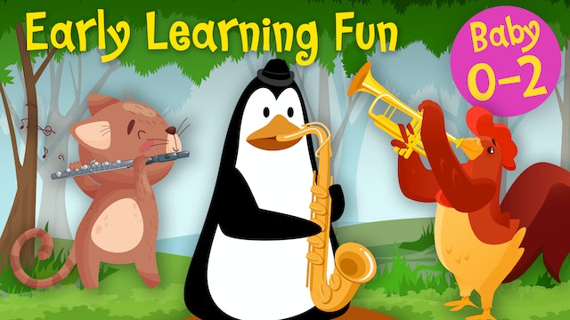 Wind Instruments | Animals & Sounds Vol. 4 | Early Learning Fun