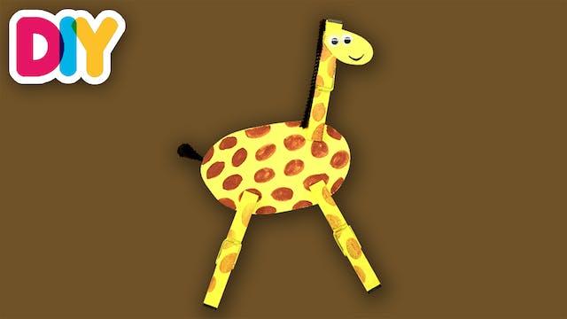 Giraffe   Clothespin Craft