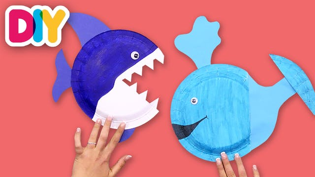Whale & Shark | Paper Plate Crafts