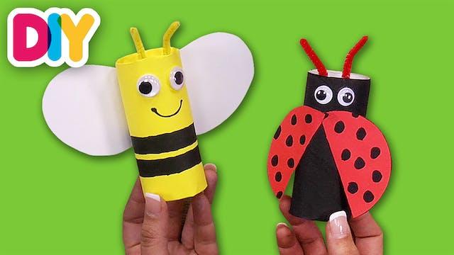 Bumblebee & Ladybug | Paper Roll Crafts