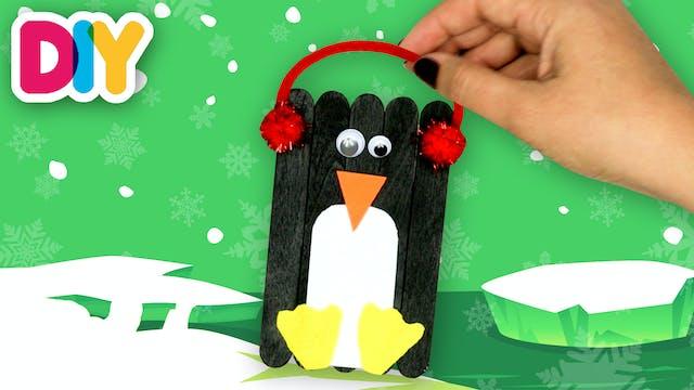 Penguin   Popsicle Stick Craft