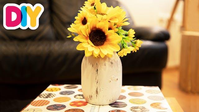 Upcycled Jar Vase   Jar Craft