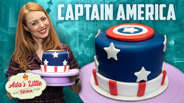 Ada's Little Kitchen #5 | How to make a Captain America Cake