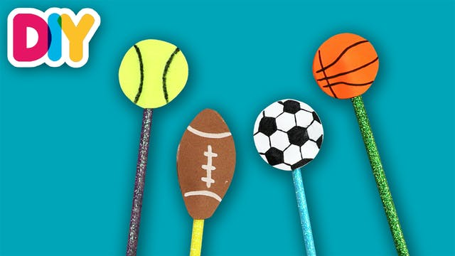 Sports Pencil Toppers | Craft for Kids