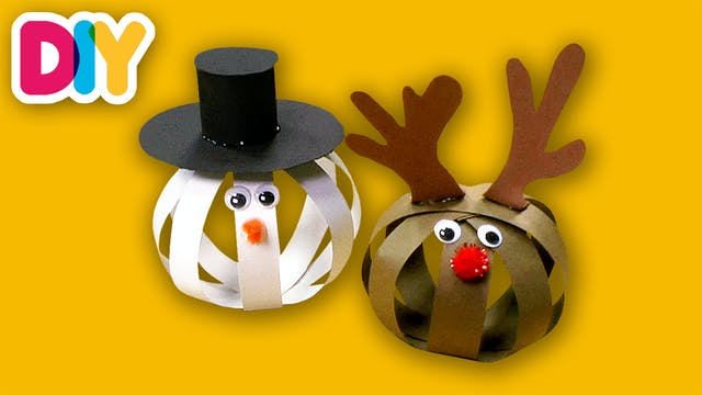 Frosty & Rudolph | Paper Ornament