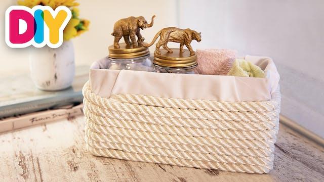 Upcycled Twine Basket   Twine Craft