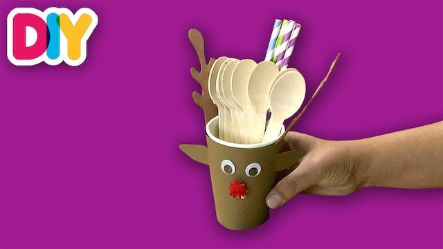 Reindeer Cup Sleeve | Paper Craft