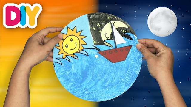 Day and Night   Paper Plate Craft