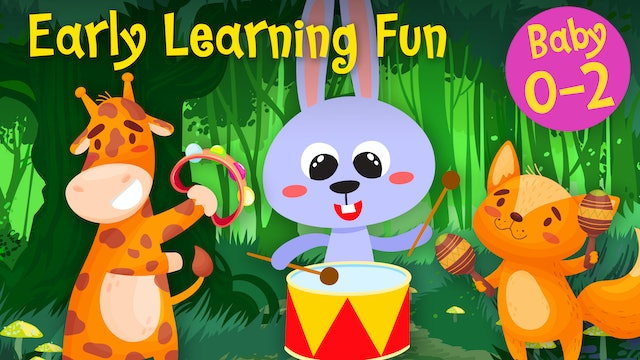 Percussion Instruments | Animals & Sounds Vol. 3 | Early Learning Fun
