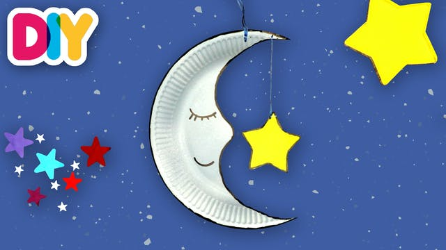 Moon and Star Wall Hanging | Paper Pl...