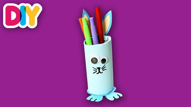 Bunny Pencil Case | Paper Roll Craft