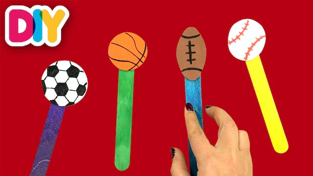 Sports Reading Pointers | Popsicle Craft