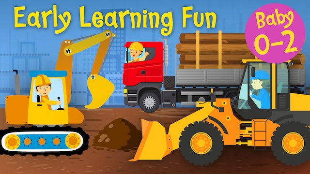 Construction Vehicles | Numbers & Sounds | Early Learning Fun