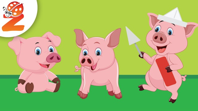 Three Little Piggies | Animated Songs