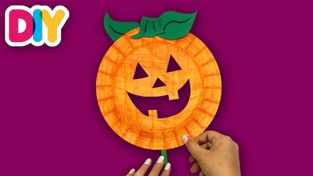 Pumpkin Mask | Paper Plate Craft
