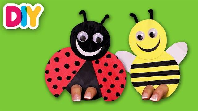 Bumblebee & Ladybug | Finger Puppet C...