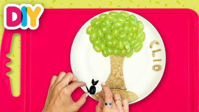 Tree | Banana Pancakes & Grapes Snack