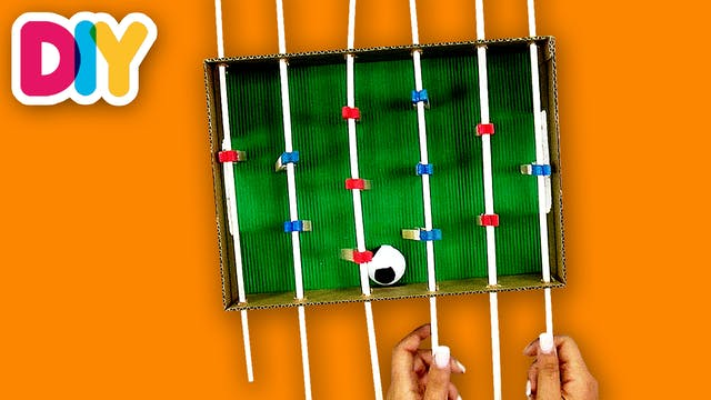 Football Table Game | Shoebox Craft