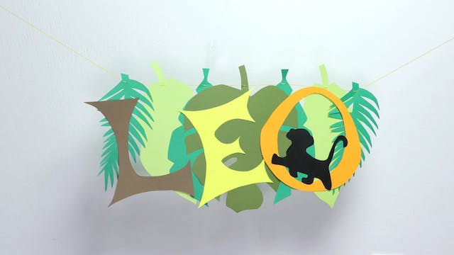 Lion King Party Banner | Paper Craft