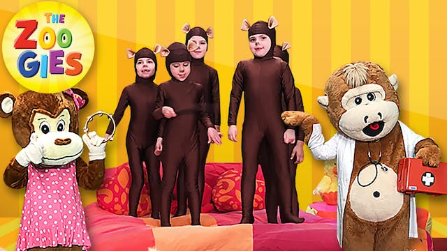 5 Little Monkeys Jumping On The Bed -...