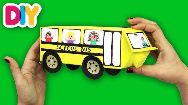 School Bus   Recycled Milk Carton Craft